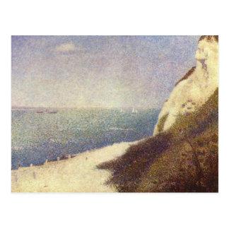 Stranden i Honfleur av Georges Seurat Vykort