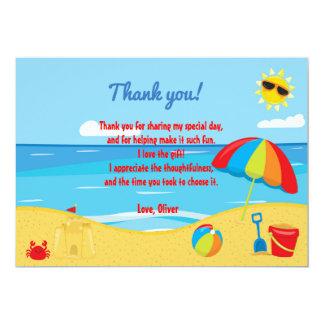 Stranden lurar tackkortet 12,7 x 17,8 cm inbjudningskort