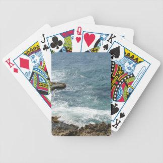 Stranden möter hav spelkort
