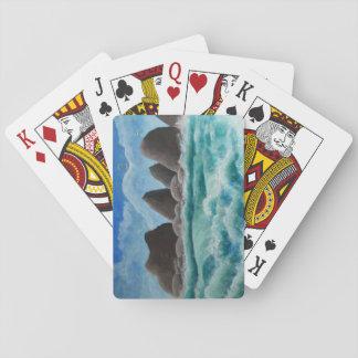 Stranden på oceansiden - leka kort casinokort