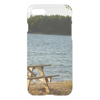 Stranden parkerar tar av planet iPhone 7 skal