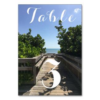 Stranden tar fram bordsnumret bordsnummer