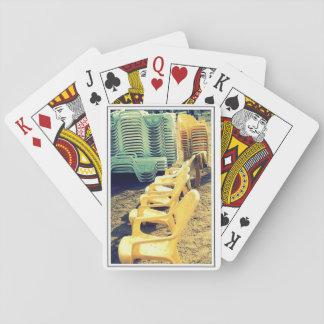 Stranden varar ordförande vid 101 leka kort spel kort