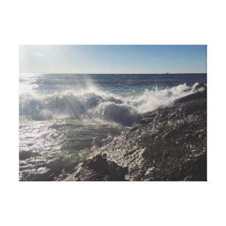 Stranden vinkar canvastryck