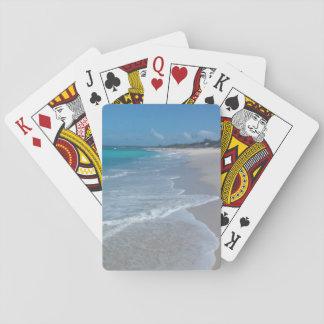 Stranden vinkar leka kort spelkort