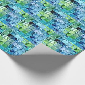 Strandexponeringsglas belägger med tegel konst på presentpapper