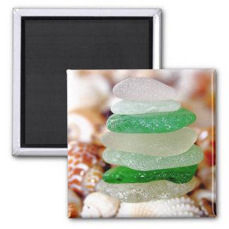 Strandexponeringsglas på snäckskalmagneten magnet