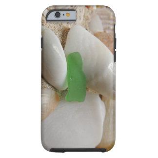 Strandexponeringsglas-, snäcka- och Sandiphone Tough iPhone 6 Fodral