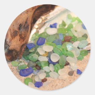 Strandexponeringsglas Tinies Runt Klistermärke