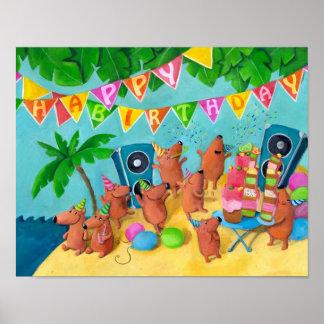 Strandfödelsedagsfest Poster