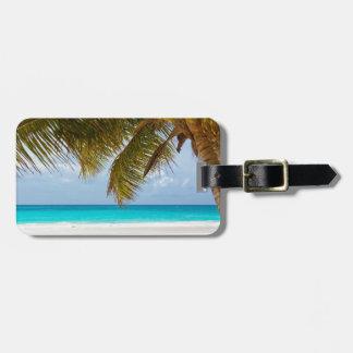 strandhandflatan förgrena sig för ösanden för träd bagagebricka