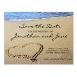 Strandhavbröllop spara datum vykort