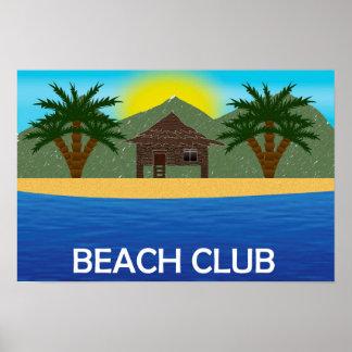 Strandklubbaffisch Poster