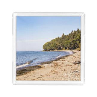 Strandkusten fodrar landskap portionmagasinet bricka