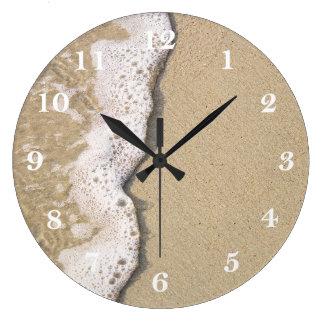 Strandkusten tar tid på stor klocka