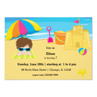 Strandparty 12,7 X 17,8 Cm Inbjudningskort
