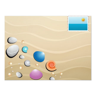 strandparty 16,5 x 22,2 cm inbjudningskort
