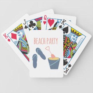 Strandparty Spelkort