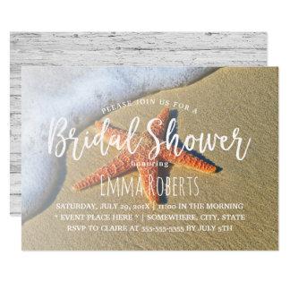 Strandsjöstjärnasommar som gifta sig möhippan 12,7 x 17,8 cm inbjudningskort