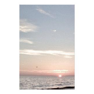 Strandsolnedgång Brevpapper