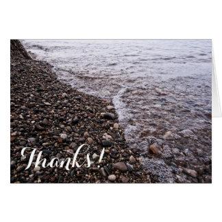 Strandstenar, färgrikt stenLake Michigan tack OBS Kort