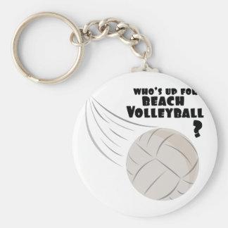Strandvolleyboll Rund Nyckelring