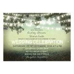 stränga av lantlig bröllopinbjudan för ljus anpassningsbara tillkännagivanden
