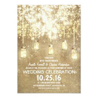 Stränga för masonburkar för ljus sparkly 12,7 x 17,8 cm inbjudningskort