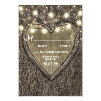Stränga ljus + Kort för bröllop OSA för skäll för 8,9 X 12,7 Cm Inbjudningskort