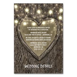 Stränga ljus + Kort för mottagande för bröllop för