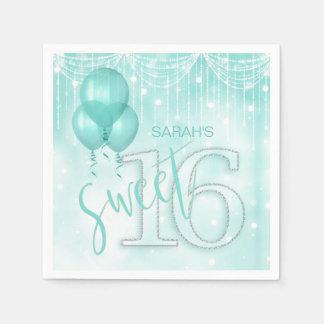Stränga ljus & kricka sött 16 ID473 för ballonger Pappersservetter