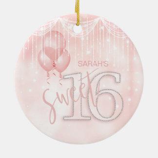 Stränga ljus & rosa guld sött 16 ID473 för Julgransprydnad Keramik