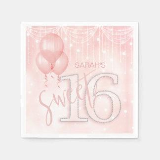 Stränga ljus & rosa guld sött 16 ID473 för Papper Servett