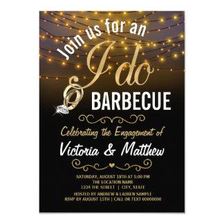 Stränga ljus som jag gör BBQ-inbjudningar 11,4 X 15,9 Cm Inbjudningskort