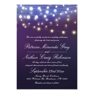 Stränga ljusaftonbröllop 12,7 x 17,8 cm inbjudningskort