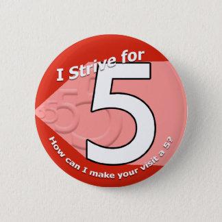 Sträva för 5 knäppas standard knapp rund 5.7 cm