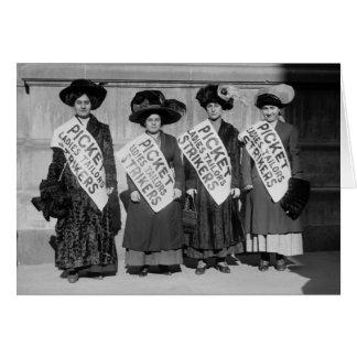 Strejka av damerna Skräddare, 1910 Hälsningskort