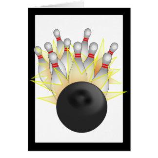 STREJKA! Bowlingklot och stift Hälsningskort