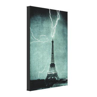 Strejka för Eiffel tornblixt Canvastryck
