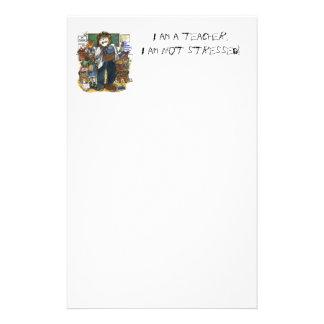 Stressad lärare brevpapper