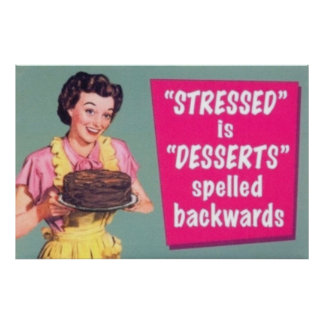 Stressade är efterrätter som tillbaka stavas poster