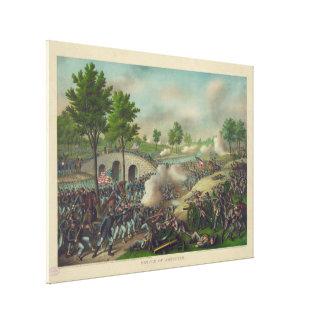 Strid av Antietam av Kurz & Allison Canvastryck
