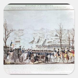 Strid av Austerlitz, 2nd December 1805 Fyrkantigt Klistermärke