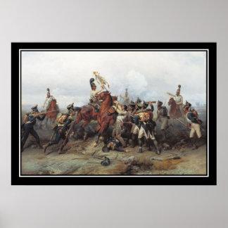 Strid av Austerlitz förlust av en standard affisch Poster