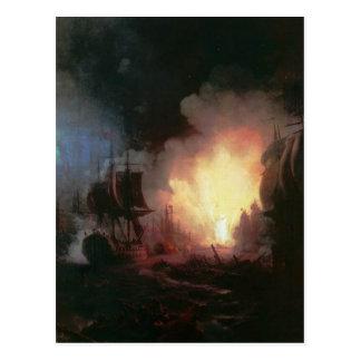 Strid av Chesma av Ivan Aivazovsky Vykort