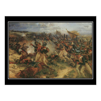 Strid av den Borodino Napoleon vintage affisch