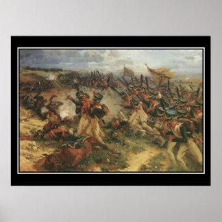 Strid av den Borodino Napoleon vintage affisch Poster