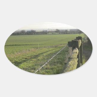 Strid av den Shrewsbury platsen Ovalformat Klistermärke
