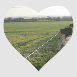 Strid av den Shrewsbury platsen Hjärtformat Klistermärke