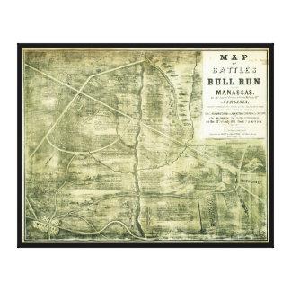 Strid av tjurspringakartan vid väster & Jackson Canvastryck